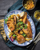 Roast duck with nectarine butter