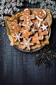 Homemade gingerbread biscuits