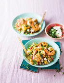Couscous and prawn salad