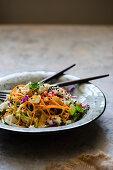 Greek coleslaw with feta cheese