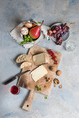 Tomme de Montagne with walnuts and redcurrants