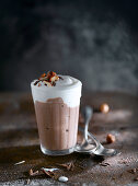 Sweet chocolate smoothie with ice-cream