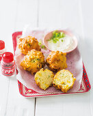 Sweetcorn and spring onion vetkoek (South Africa)