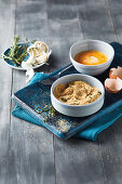 Ingredients for tasty homemade crumbs