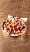Berry cheesecake slices