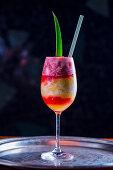 Pink Pina Colada cocktail