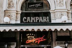Facade of Camparino in Galleria (Milan, Italy)