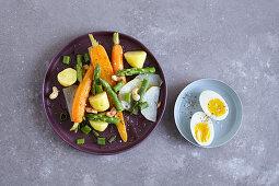 Vegetarian tagine with spring vegetables
