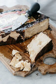 Occelli in foglie di castagno (cheese refined with chestnut leaves made by Beppino Occelli, Italy)