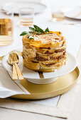 Pasta cake with Amarone ragout