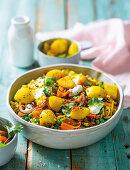 Carrot and potato biryani