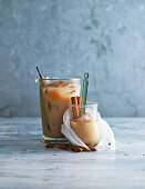 Hot and cold almond chai tea