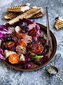 Beetroot, Blood Orange and Pork Salad