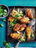 Roast Chicken with Broadbeans