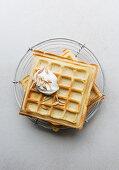 Orange yeast waffles