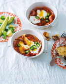 Eggs baked in smoky tomato