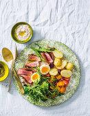 Steak salad with tonnato dressing