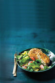Salmon-fish cakes with citrus salad