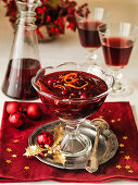 Christmas Cranberry and Orange relish with red wine
