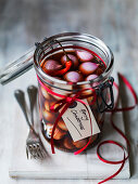 Jar of Pickled onions for Christmas