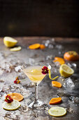 Persimmon and Lemon Cocktail