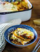 Butternut squash lasagne with ostrich mince