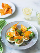 Mexican devilled eggs