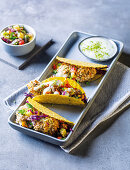 Fish tacos with pineapple salsa