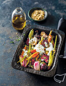 Roasted root veg with dukkah