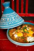 Kefta Mkaouara (tagine with minced meat, tomatoes and egg, Morocco)