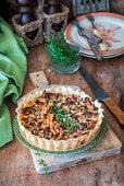Mushroom cheese pie