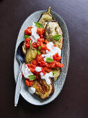 Grilled aubergines with yoghurt and za'atar