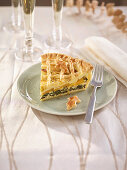 Vegetable quiche with robiola