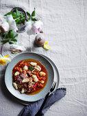 Potato gnocchi with tuco, tomato sauce and chicken