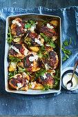 Spanish chicken and crispy potatoes