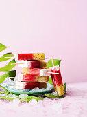 Summer kiwi ice pops