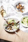 Mussel gratin (Italy)