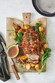 Slow cooker pork and apple pot roast