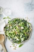 Silverbeet, broccoli and apple salad