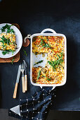 Spinach, thyme and hazelnut lasagne