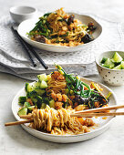Spicy prawn noodles with cooling cucumber