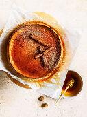 Melopita (Greek honey and cinnamon cheesecake)