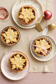 Star tarts with clementine, mandarin, and pecan jam