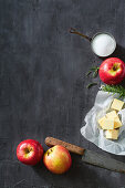 Ingredients for apple and rosemary tarte tatin