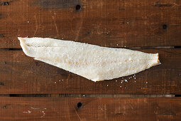 Dried cod preserved in salt