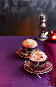 Hot Berry Souffles with Brandy