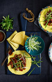 Chinese Hoisin duck pancakes