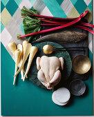 Rhubarb, parsnip, flathead and chicken