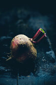 Beetroot on a dark surface