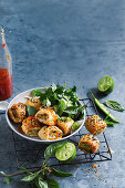 Mini Thai green chicken curry sausage rolls (Asia)